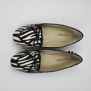 Ellen Tracy real cow hair Alpine loafer